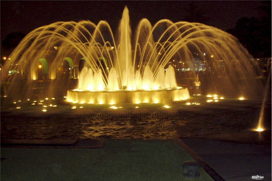 Fountain Tour - 4 hours Night-City-Tour by bus