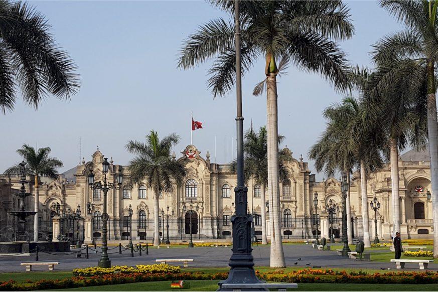 Lima - Plaza-Mayor - Palacio de Gobierno del Perú