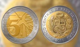 Münzgeld 5 Nuevo Soles