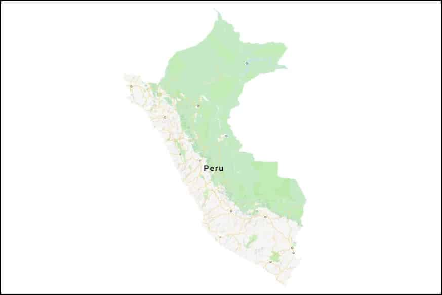 Karte Peru