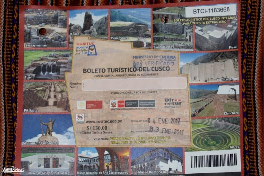 Boleto Turistico del Cusco Integral para Turistas Nacional