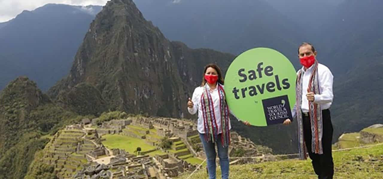 Sello SafeTravels Machu Picchu